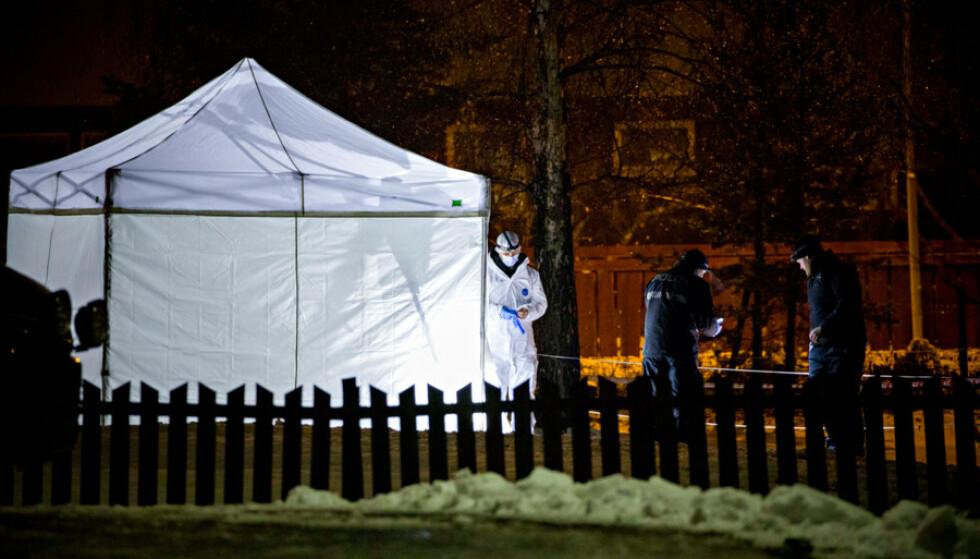 DREPT VED HJEMMET: Laura Iris Haugen (16) ble drept like utenfor familiehjemmet på Vinstra 31. oktober i fjor. Foto: Nina Hansen / Dagbladet