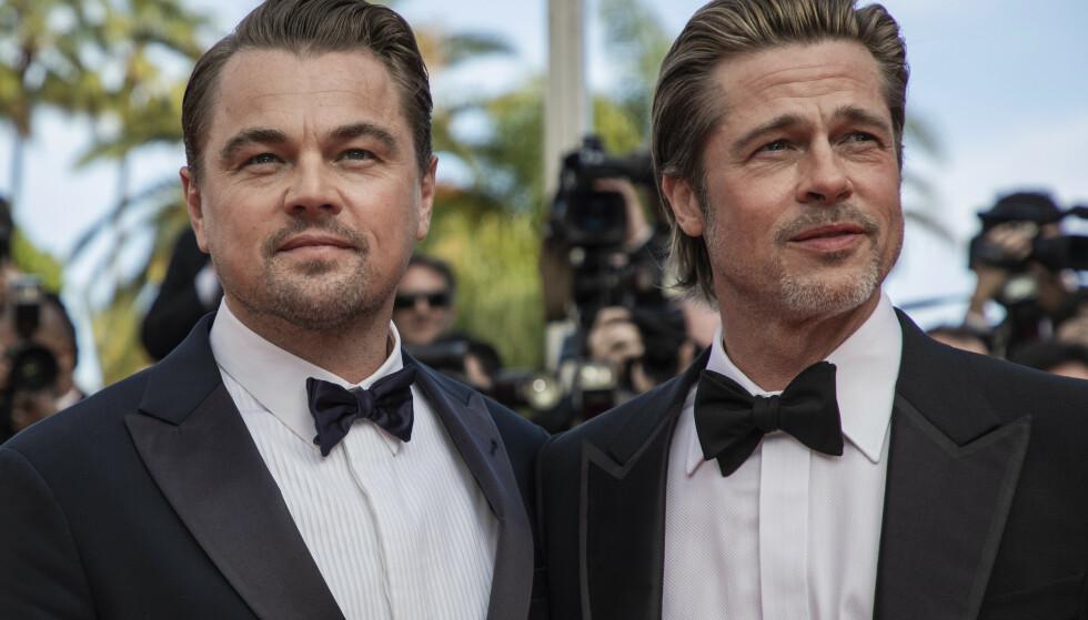 <strong>- INGEN KOMMENTAR:</strong> Brad Pitt og Leonardo DiCaprio har fått et godt forhold gjennom samarbeidet i Tarantino-filmen «Once Upon a Time In Hollywood». Det finnes likevel grenser for hva sistnevnte ønsker å prate om. Her fotografert i Cannes. Foto: NTB Scanpix