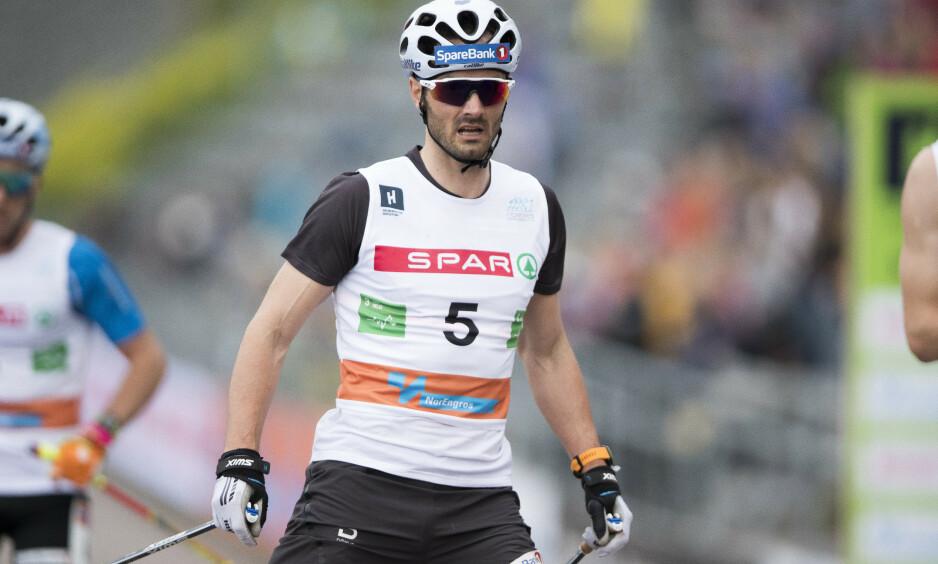 LEGGER OPP: Hans Christer Holund har bestemt seg for å legge opp etter OL i Beijing. Her under Holmenkollen skishow tidligere i sommer. Foto: Terje Pedersen / NTB scanpix