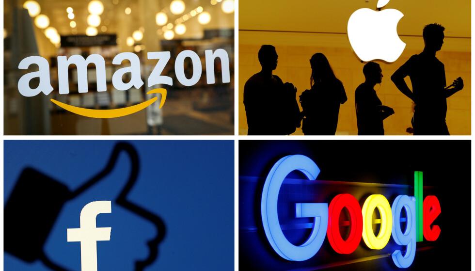 Bør skattlegges: Teknologigitanter som Amazon, Apple, Facebook og Google må skatte mer i landene de tjener penger. Foto: REUTERS / NTB scanpix