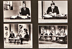 MENTALT SLITEN: Under TV-sendingen hadde Tandberg en propp i det ene øret, der han hørte programlederen, og en propp i det andre øret, der han hørte kollega Jan. P Jansen. Han innrømmer at han var sliten da han dro hjem på morgenkvisten den 21. juli. Foto: Frank Karlsen / Dagbladet