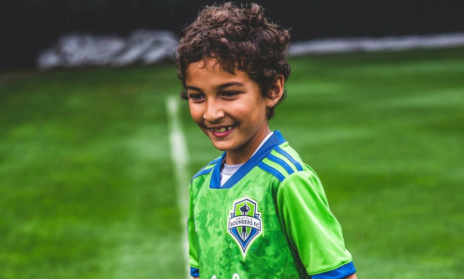 STARTET: Seattle Sounders ville gjerne gi noe tilbake til kreftsyke Bheem Goal. Torsdag fikk han spille mot Borussia Dortmund. Foto: Seattle Sounders FC