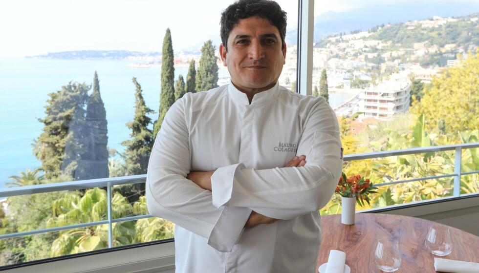 VERDENS BESTE: Ikke bare er han mesterhjernen bak Mirazur - verdens beste restaurant, Mauro Colagreco eier også en rekke andre spisesteder rundt omkring i verden. Nå har han og flere andre kokker tatt til ordet for å beskytte fjordene i sitt hjemland Argentina fra norske lakseoppdrettere.