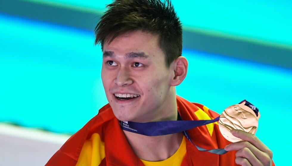 MISLIKT: Sun Yang er ingen populær mann i svømmemiljøet. Foto: NTB scanpix