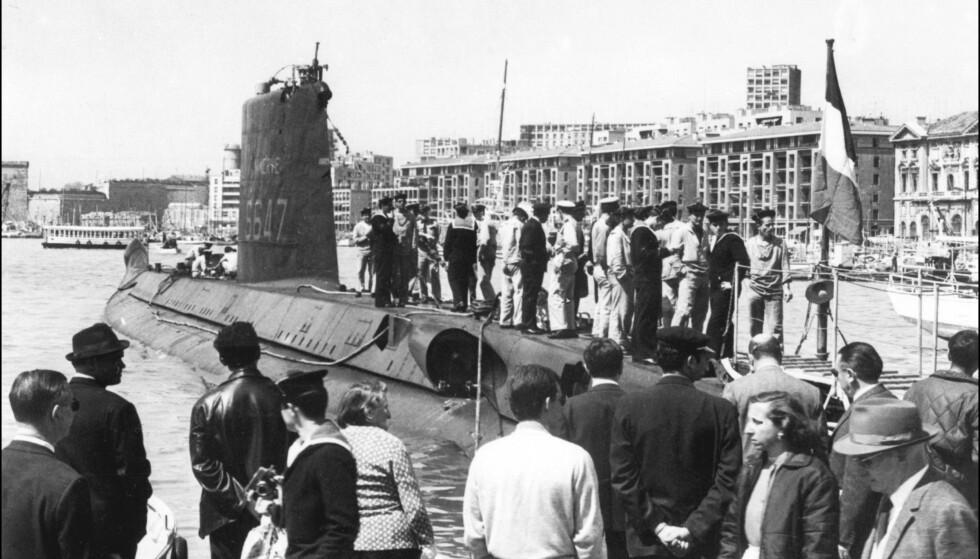 FUNNET: Den franske ubåten Minerve har blitt funnet etter at den forsvant for 51 år siden. Foto: STF / AFP