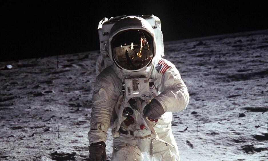 50 ÅR SIDEN: Lørdag var det nøyaktig femti år siden menneskene for første gang satte sine føtter på månen. Det skjedde ikke uten et stort bidrag fra Adolf Hitlers eksperter. Foto: NASA
