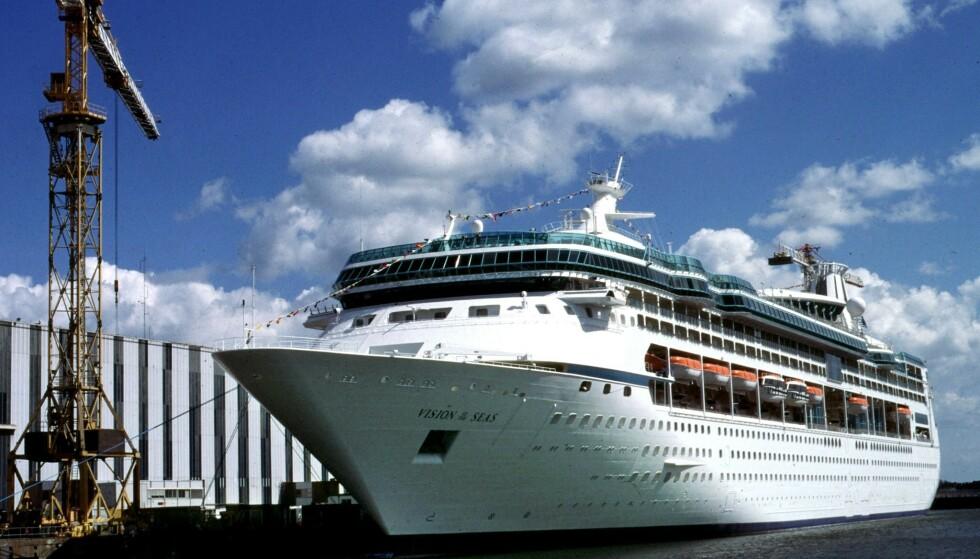 """KONGE PÅ SJØEN: Cruiseskipet """"Vision of the seas"""" (Royal Caribbean International) seiler i norske havner. Foto: Reuters / NTB Scanpix."""