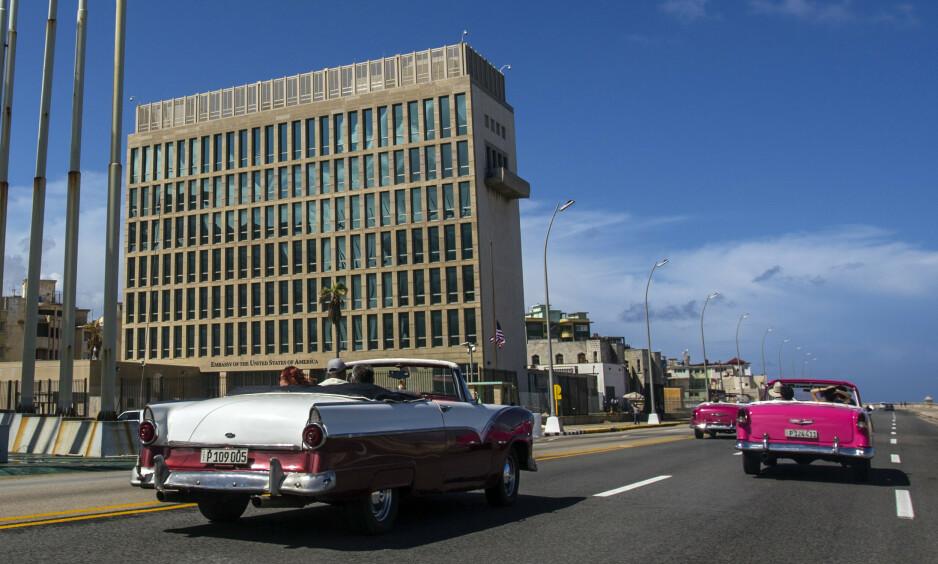SYKE: 40 amerikanske diplomater ble syke da de jobbet på Cuba. Foto: AP Photo/Desmond Boylan