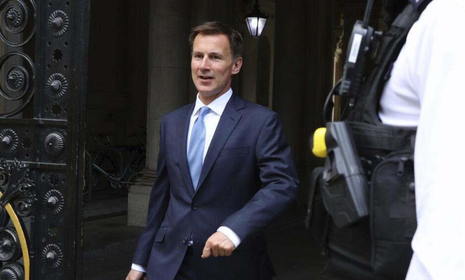TREKKER SEG: Jeremy Hunt har valgt å trekke seg etter at Boris Johnson tilbød han en annen posisjon i regjeringen. Foto. AP / NTB Scanpix