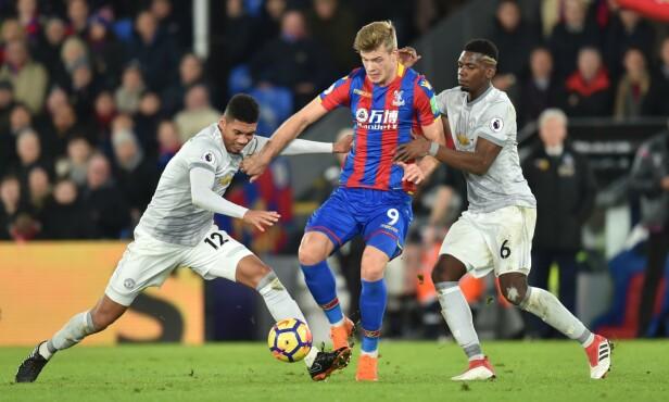 MÅLTØRKE: Alexander Sørloth ble kjøpt inn for å score mål for Crystal Palace. Det har han til gode å gjøre i serien. Foto: NTB scanpix