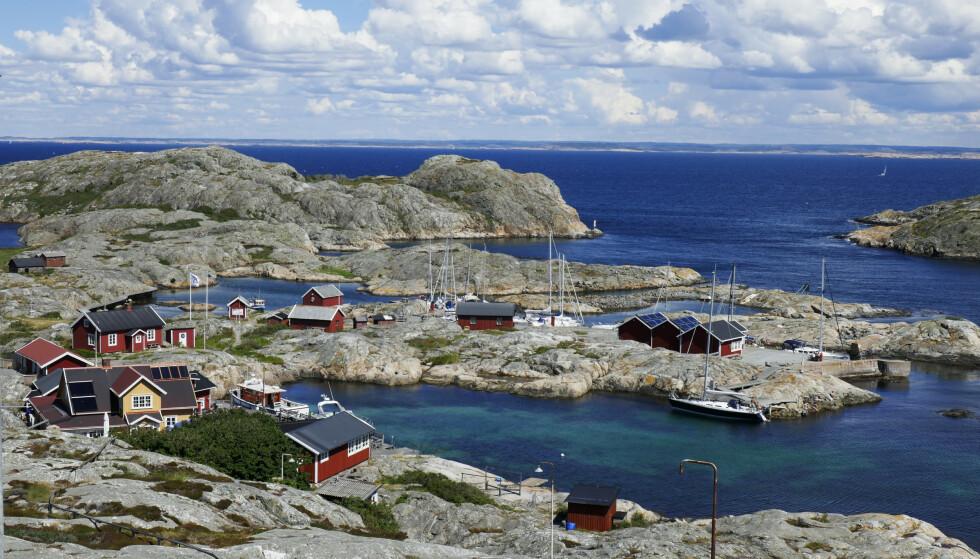 SAVNET: Svensk politi melder at to norske turister er savnet ved Väderøyene i Tanum i Sverige. Foto: Erik Johansen / NTB scanpix
