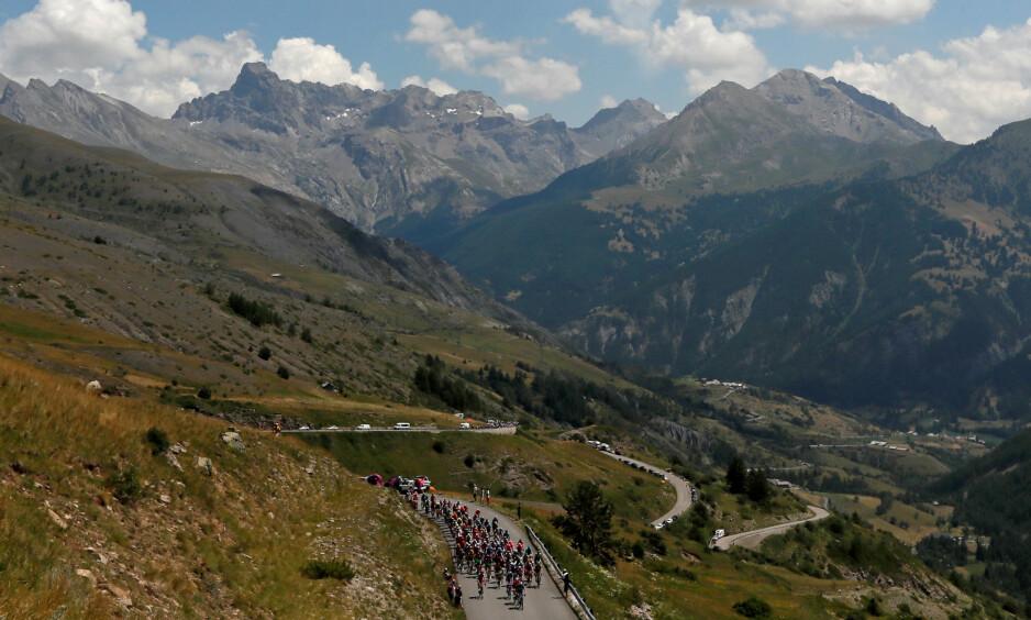 MEKTIGE GALIBIER: Tre dager er satt av til de mektige Alpene under årets Tour de France. Først ut var Col du Galibier som ruver 2600 meter over havet. Her skal vinneren av Tour de France kåres, og andres drømmer knuses.