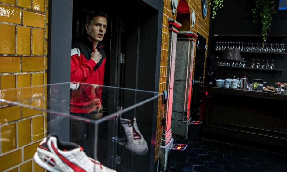 I FORM: Karsten Warholm har satt flere rekorder i år. - Et resultat av arbeid over veldig lang tid, sier Warholm. Foto: Frank Karlsen / Dagbladet.