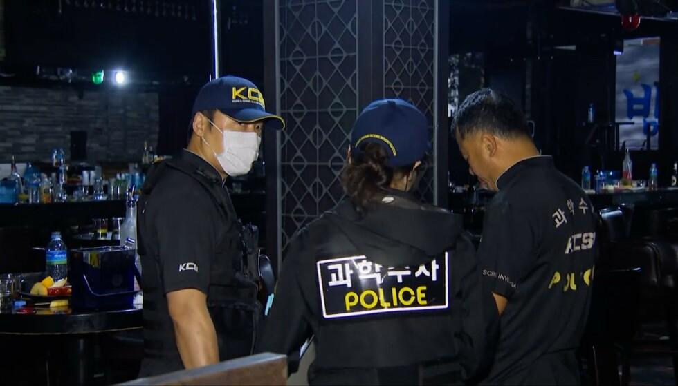 UNDERSØKELSER: Politiet gjennomførte undersøkelser i den aktuelle nattklubben etter ulykken. Foto: NTB Scanpix