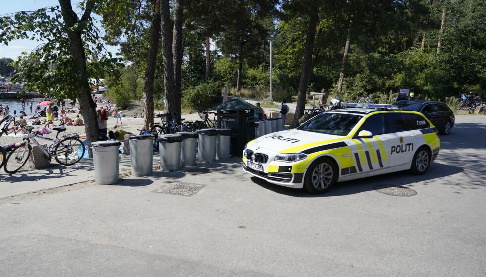 DØDSFALL: En person ble lørdag funnet livløs i vannet ved Bygdøy i Oslo, og ble seinere erklært død. Foto: Fredrik Hagen / NTB scanpix