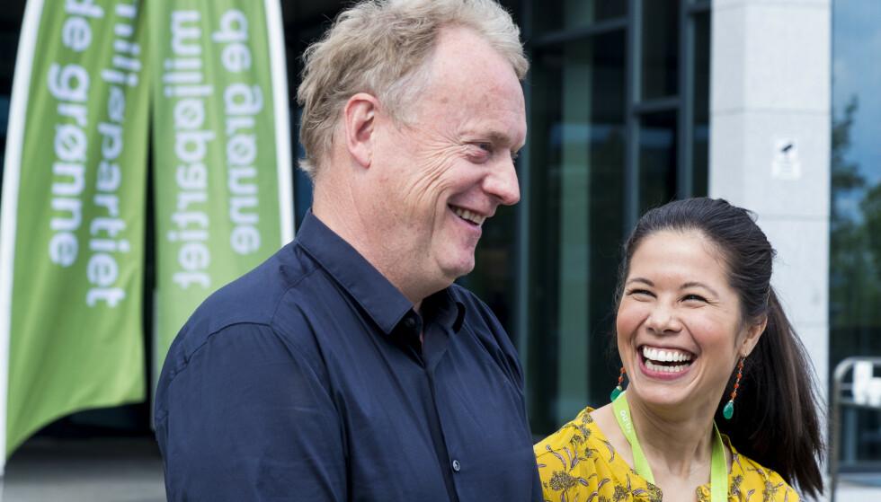 BØR BYTTES UT: Oslo Venstre vil bytte ut byrådsleder Raymond Johansen og vil ha med seg miljøbyråd Lan Marie Berg og MDG på laget. Foto: Heiko Junge / NTB scanpix