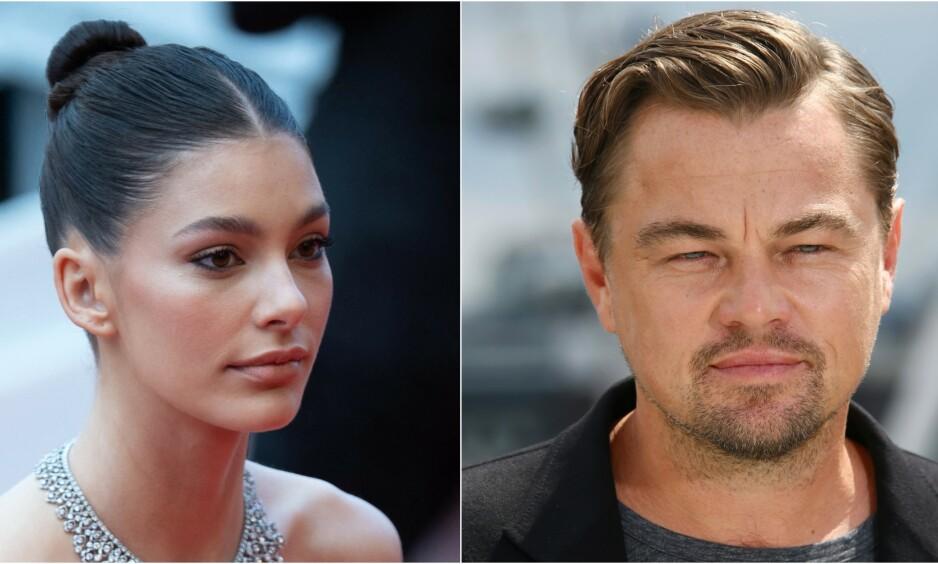 STOR ALDERSFORSKJELL: Det skiller 22 år mellom supermodellen Camilla Morrone og Leonardo DiCaprio. Foto: AP/NTB Scanpix
