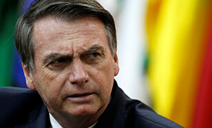 KLAR TALE: Brasils president Jair Bolsonaro. Foto: Adriano Machado / NTB Scanpix.