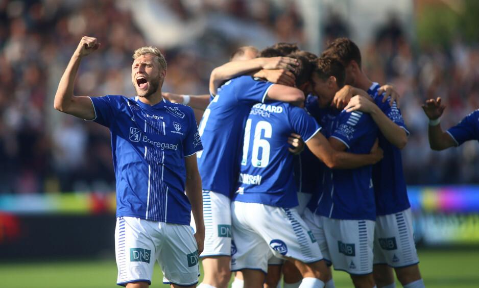 SLITER: Sarpsborg 08 tok ett viktig poeng hjemme mot Rosenborg, men skulle gjerne hatt alle tre. Sarpingene ligger nest sist på tabellen. Foto: Christoffer Andersen / NTB scanpix