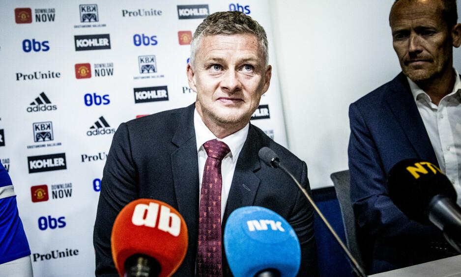 TYDELIG SVAR: Ole Gunnar Solskjær garanterer at Paul Pogba spiller for Manchester United denne sesongen. Foto: Christian Roth Christensen / Dagbladet
