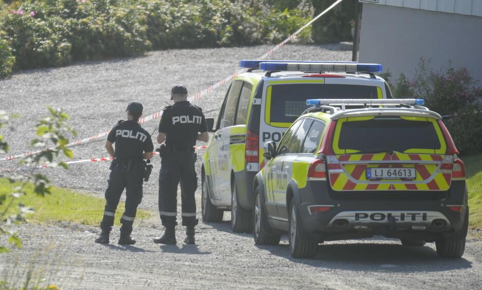 PÅGREPET: En mann er søndag ettermiddag pågrepet etter det politiet betegner som en alvorlig voldssak. Foto: Fridgeir Walderhaug / Dagbladet