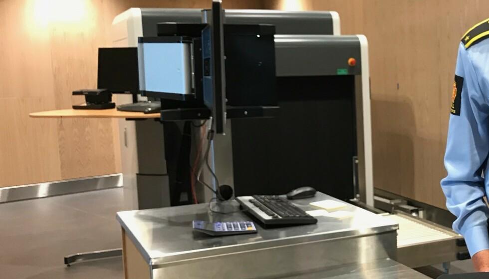Sjekker bagasjen: I denne scanneren blir håndbagasjen sjekket hvis man blir stanset for kontroll. Foto: Odd Roar Lange/The Travel Inspector