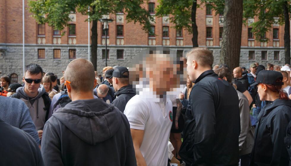 VOLDELIG: Dette skal være gjerningsmannen, som er et aktivt medlem av Den nordiske motstandsbevegelsen. Foto: Filter Nyheter