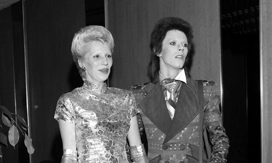 SKJULTE VOLDTEKT: Angie Bowie (69) fortalte aldri ektemannen David Bowie om voldtekten hun skal ha vært offer for. Foto: NTB Scanpix