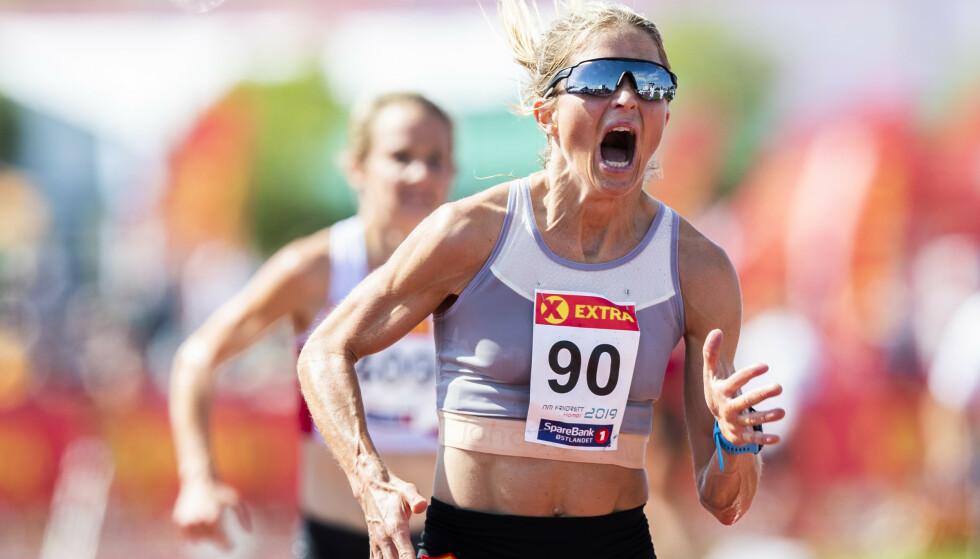 OVERLEGEN SEIER: Therese Johaug var i en egen klasse under friidretts-NM. Foto: NTB Scanpix