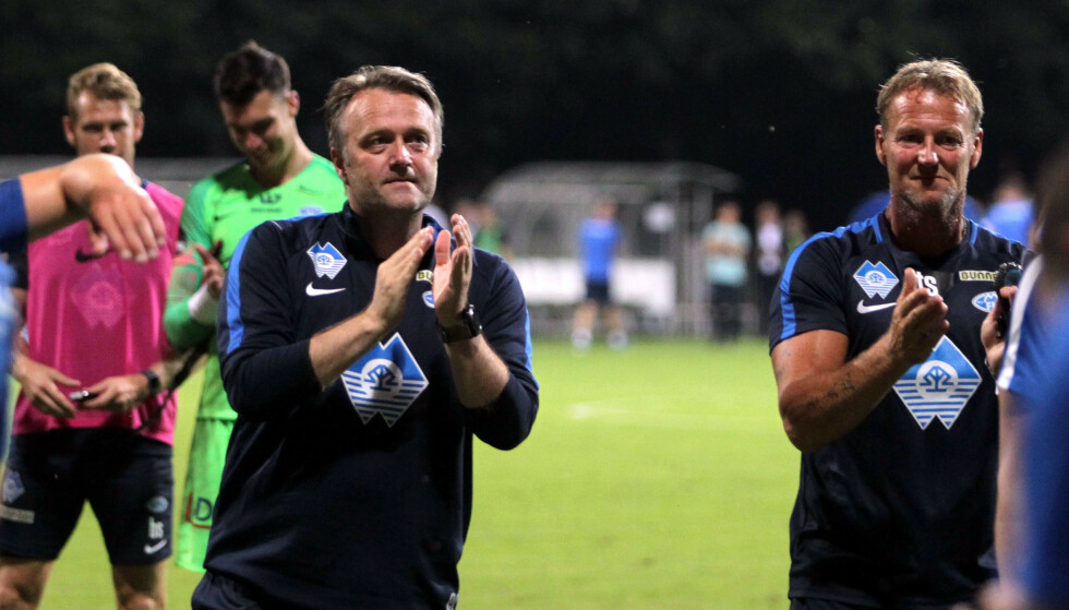 HELDIG: Erling Moe fikk en heldig motstander i Europa League-kvaliken.  Foto: Aleksandar Djorovic / NTB scanpix