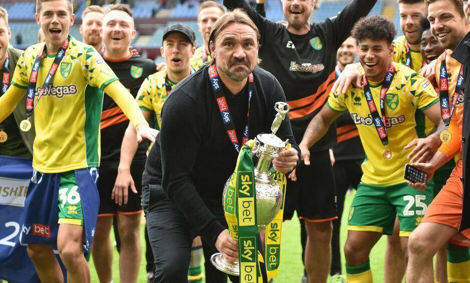 VANT: Norwich dominerte fjorårets Championship, og tok med seg bøtta, i tillegg til Premier League-opprykk. Foto: Dennis Goodwin / ProSports / REX / NTB Scanpix