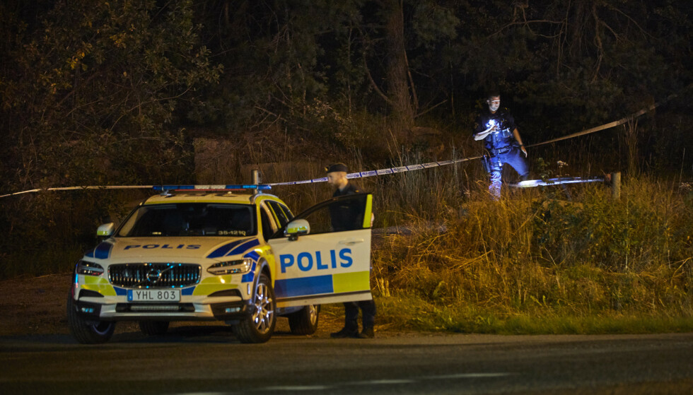 DREPT: 16 år gamle Peter Plax ble funnet livløs og hardt skadd ved en badeplass i Sollentuna fredag kveld. Han døde av skadene han hadde blitt påført. Foto: Fredrik Persson / TT / NTB scanpix