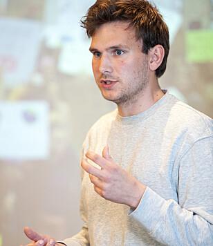 FØRSTEKANDIDAT: Nasjonale talspersoner Teodor Bruu i Grønn Ungdom er listetopp for partiet i bydel Gamle Oslo. Foto: Ryan Kelly / NTB Scanpix