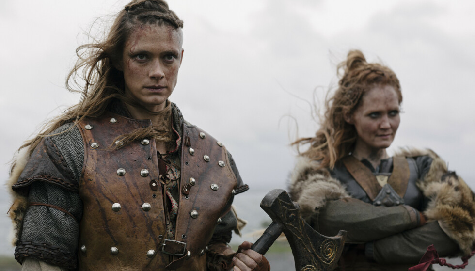 VIKINGER: Finske Krista Kosonen er Alfhildr i «Beforeigners», som kommer på HBO Nordic 21. august. Foto: HBO NORDIC / Eirik Evjen