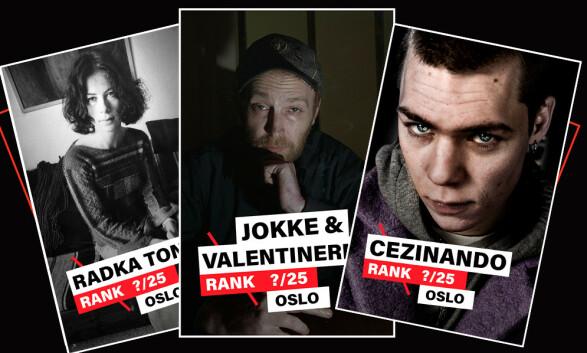Oslos 25 beste artister