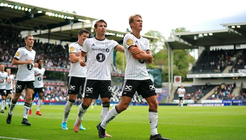 MÅL: Erik Botheim feirer scoring mot Tromsø. Foto: NTB Scanpix
