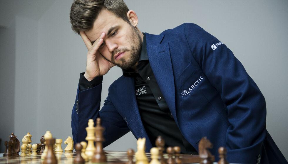 TAPTE: Magnus Carlsen startet turneringen i St. Louis med tap mot Ding Liren. Foto: Carina Johansen / NTB scanpix