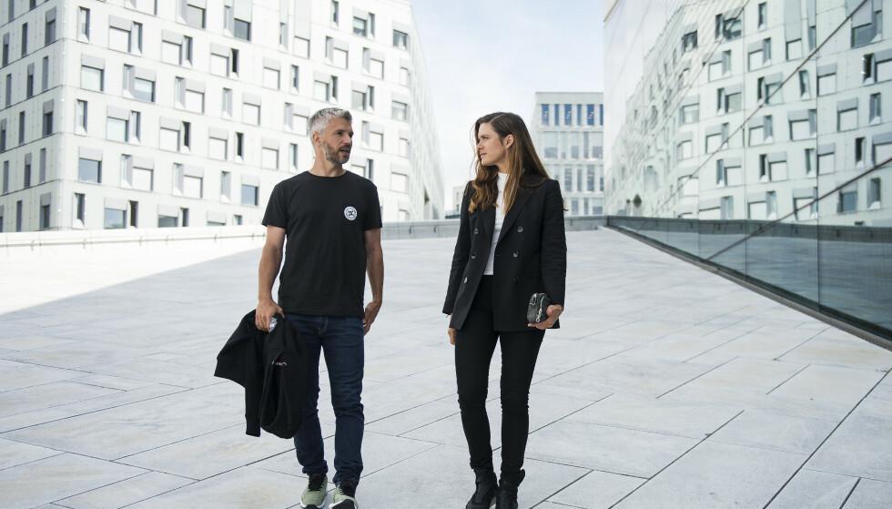 <strong>I hovedrollene:</strong> Nicolai Cleve Broch og Krista Kosonen spiller politietterforskere i «Beforeigners». Foto: Carina Johansen