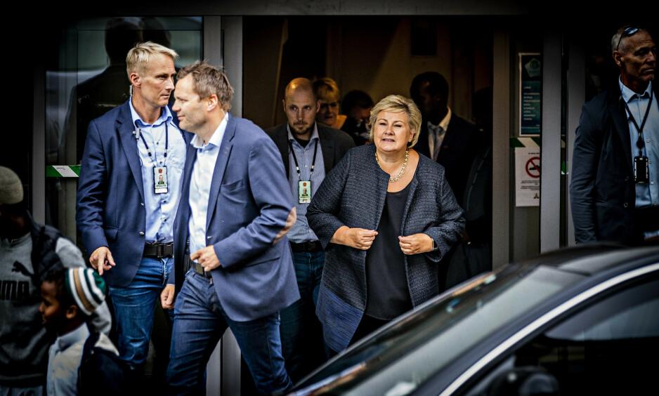 KRITISERES: Sveriges energiminister, Anders Ygeman, reagerer på Erna Solbergs kommentarer om at svenske nynazister kommer til Norge. Foto: Bjørn Langsem / Dagbladet