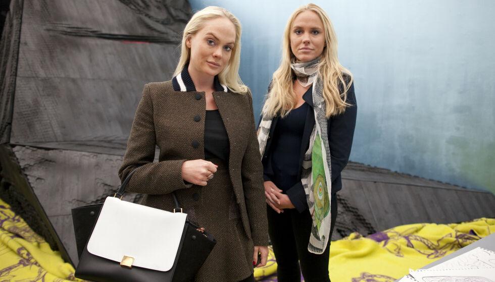 Skattlegg arven: Superrike arvinger bør skattlegges. Her er Cecilie and Kathrine Fredriksen på en kunstutstilling i London. Foto: REX / NTB scanpix