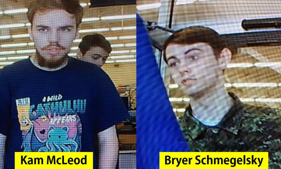 DRAPSMISTENKTE: Kam McLeod og Bryer Schmegelsky var etterlyst for tre drap i mer enn to uker, før likene deres ble funnet. Foto: AFP / NTB scanpix