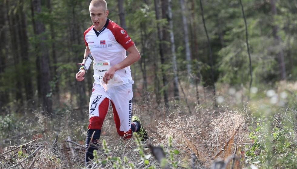 BEST: Olav Lundanes i aksjon under kvalifiseringsheatene til mellomdistansen i Sarpsborg tirsdag. Foto: Geir Olsen / NTB scanpix
