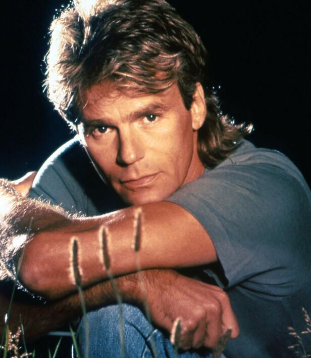 DEN GANG DA: Her er Richard Dean Anderson i rollen som MacGyver, en rolle som forble hans aller største. Foto: NTB Scanpix