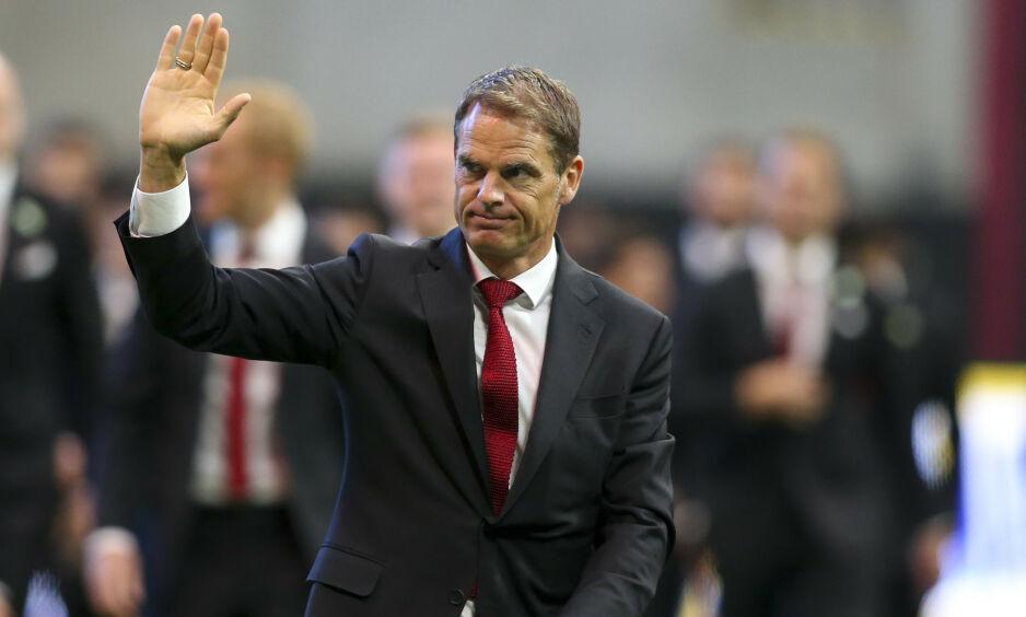 KRITISK: Frank de Boer er ikke enig i at mannlige og kvinnelige fotballspillere skal tjene det samme. Foto: Brett Davis-USA TODAY Sports / NTB Scanpix