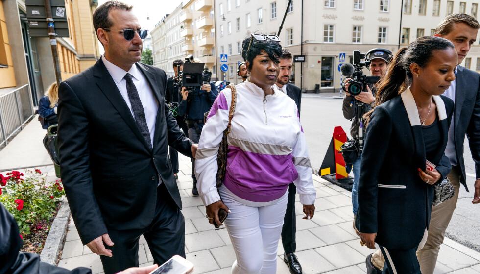 STØTTET SØNNEN: Renee Black, Asap Rockys mor, i Stockholm under rettssaken. Foto: John T. Pedersen / Dagbladet