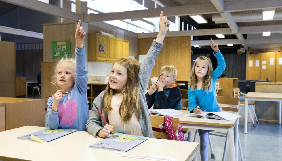 SKOLESTART: Regjeringen ber kommunene teste ut ordninger for fleksibel skolestart. (Illustrasjonsfoto) Foto: Gorm Kallestad / NTB scanpix