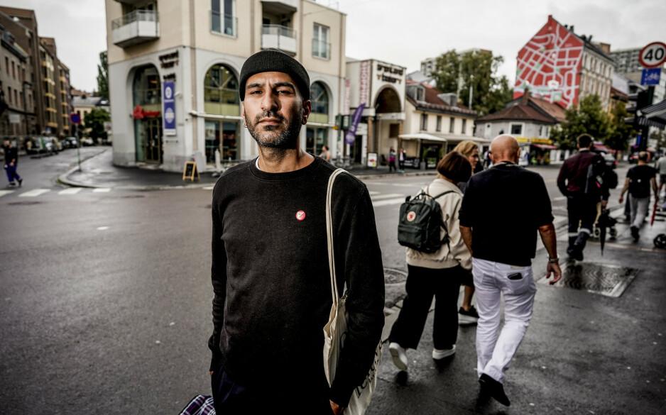 FEIL VEI: Thee-Yezen Al-Obaide kommer fra Irak, der du kan bli drept for å ytre egne meninger. - Norge har utviklet seg i feil retning de seinere åra, sier 38-åringen, som sammen med journalisten Muhammed Qasim Ali har kjempet for en handlingsplan mot islamofobi siden 2016. Alle foto: John Terje Pedersen / Dagbladet