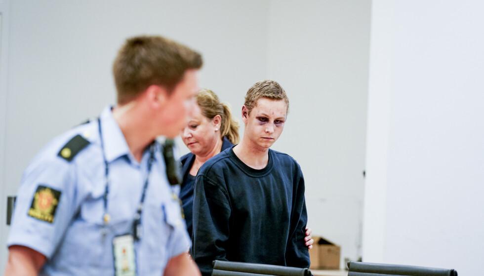 ERKJENNER FORHOLD: Den siktede Philip Manshaus (21) møtte i avhør i dag. Foto: John Terje Pedersen / Dagbladet