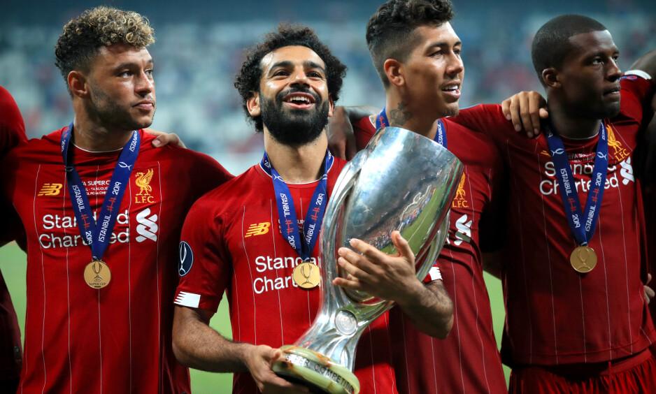 SIKKER: Tidligere Manchester United-spiller Gary Neville 100 prosent sikker på at Mohamed Salah kommer til å forlate Liverpool i løpet av det nærmeste året. Foto: Adam Davy / NTB Scanpix