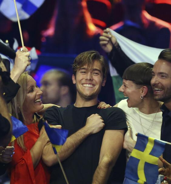 <strong>EUROVISION:</strong> Benjamin Ingrosso representerte Sverige under Eurovision Song Contest i 2018, der han til slutt endte på en sjuendeplass. Etter det har karrieren satt fart. Foto: NTB Scanpix
